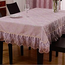 FHK Tischdecke European Style Wohnzimmer Spitze Quadrat Essentisch Tuch Tisch Tuch Set Tuch Set Haushalt Baumwollsamen Couchtisch Tapete Rechteck Dekorative Tischdecken ( Farbe : C , größe : 60*60cm )