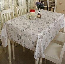 FHK Tischdecke Klassische Plastik Speisetisch Tuch wasserdicht Anti - Öl Tisch Matte PVC Tischdecken nicht waschen Couchtisch Mode Garten Tischdecken Dekorative Tischdecken ( Farbe : A , größe : 137*200cm )