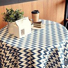 FHK Tischdecke Mode Einfache geometrische Baumwolle Leinen Tisch Tischdecke Couchtisch Tischdecke Abdeckung Dekorative Tischdecken ( Farbe : D , größe : 140*180cm )