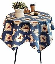 FHK Tischdecke Mode Einfache geometrische Baumwolle Leinen Tisch Tischdecke Couchtisch Tischdecke Abdeckung Dekorative Tischdecken ( Farbe : B , größe : 140*220cm )