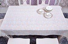 FHK Tischdecke Pvc Tischmatte Plastikkaffeetisch Tisch Stoff Stoff Wasserdicht Anti-Öl Tischdecke Dekorative Tischdecken ( Farbe : B , größe : 137*177cm )