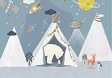 FHOMEY Tapete Wandbild 3D Kinderzimmer Tapete