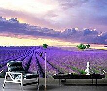 FHOMEY Tapete Wandbild 3D Lavender Flower Murals