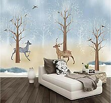 FHOMEY Tapete Wandbild 3D Schlafzimmer Handbemalte