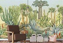 FHOMEY Tapete Wandbild 3D Vintage Kaktus Tapete