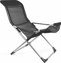 Fiam - Fiesta Sessel, Aluminium / schwarz