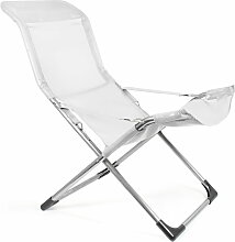 Fiam - Fiesta Sessel, Aluminium / weiß