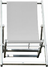 Fiam Jan Kurtz - Rimini Deckchair, weiß / weiß