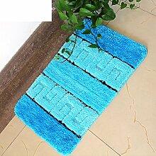 Fiber wasserabsorbierenden rutschfeste Badematte/Fußmatte/Farbstreifen in weichen, wasserabsorbierenden Matten-A 50x80cm(20x31inch)