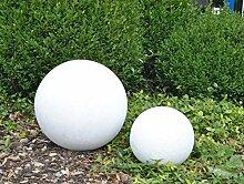 Fiberglas Dekokugel D40cm perlmutt weiß.