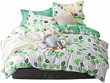 Fibre Gang Weiße und grüne Bettbezug und