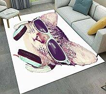 FidgetGear Fußmatte, Motiv: Hipster-Katze mit