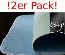 Fiducia Inkontinenzunterlage Grün-Blau Oder Blau-Weiß 90x75cm von Castejo Wiederverwendbar Waschbar Inkontinenzauflage Krankenunterlage Matratzenschutz CA3302/C (2) Sofort Lieferbar
