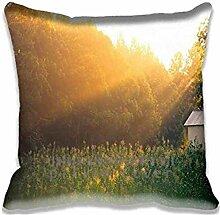 Field Of Corn At Sunrise Pillow Case Sofa Waist Throw Cushion Cover Home D¨¦cor 20x20(2 Sides)