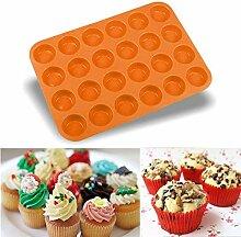 Fiesta 24 Mulden Mini Muffin Silikon Seife Kekse