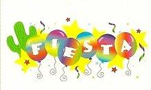 Fiesta Balloons ~ Edible Image Cake Topper by A