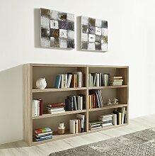 fif möbel Raumteilerregal Toro, 6 Fächer, Breite