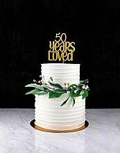 Fifty Years Loved Cake Topper, Kuchendekoration,
