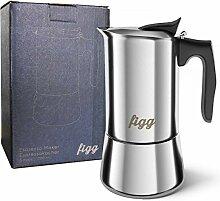 figg Espressokocher Edelstahl und Induktion