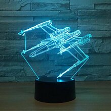 Fighter 3D Illusion Lampe 7 Farbe Flugzeug Led 3D