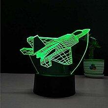 Fighter 3D Led Nachtlicht Illusion Flugzeug
