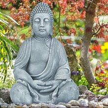 Figur Buddha Towe Bloomsbury Market Farbe: Hellgrau