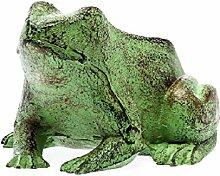 Figur Frosch 14cm Skulptur 1kg Gusseisen