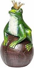 Figur Froschkönig Frosch Krone König Gartenfigur