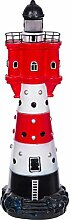 Figur, Großer Leuchtturm mit Solarlampe SYB1685,