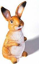 Figur Hase stehend Gartendeko bruchsicher