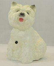Figur Hund West White Terrier mit Bewegungsmelder