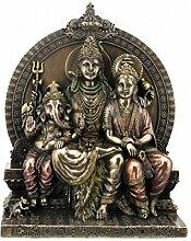 Figur Indische Götter Shiva Parvati und Ganesha