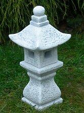 Figur japanische Laterne H 37 cm Gartendeko aus Beton
