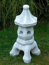 Figur japanische Laterne H 38 cm Gartendeko aus Beton