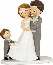 Figur Kuchen Pop & Fun Brautpaar mit Kind 21 cm