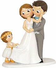 Figur Kuchen Pop & Fun Brautpaar mit Mädchen 21 cm