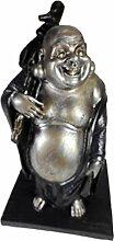 Figur lachender Glück Buddha 22 cm Deko