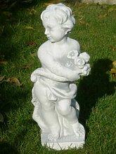 Figur Vierjahreszeiten Frühling H 50 cm Skulptur aus Beton