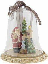 Figur Weihnachtsbaum mit Weihnachtsmann unter