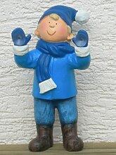 Figur Winter-Junge H 30 cm stehend auf Fensterbank
