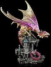 Figuren Shop GmbH Fantasy Drachen-Figur sitzt auf
