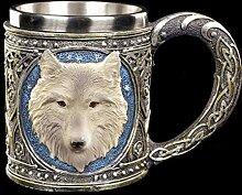 Figuren Shop GmbH Fantasy Krug - Einsamer Wolf  