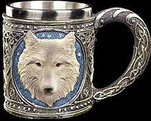Figuren Shop GmbH Fantasy Krug - Einsamer Wolf |