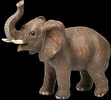 Figuren Shop GmbH Gartenfigur - Brauner Elefant