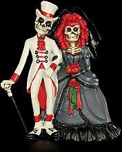 Figuren Shop GmbH Gothic-Figur Skelett Brautpaar -