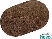 Fiji braun HEVO® Hochflor Shag Teppich | Kinderteppich 200x280 cm Oval