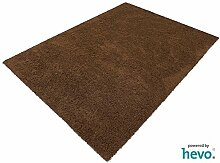 Fiji braun HEVO® Hochflor Shag Teppich | Kinderteppich 200x400 cm