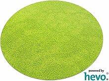 Fiji grün HEVO® Hochflor Shag Teppich | Kinderteppich 200 cm Ø Rund