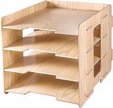 File Cabinet 4 Schichten Woody Desktop Storage Rack Bürobedarf Aktenschränke Xuan - worth having
