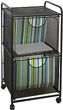 File Cabinets 2-Schicht-A4 Schubladenwagen Eisen